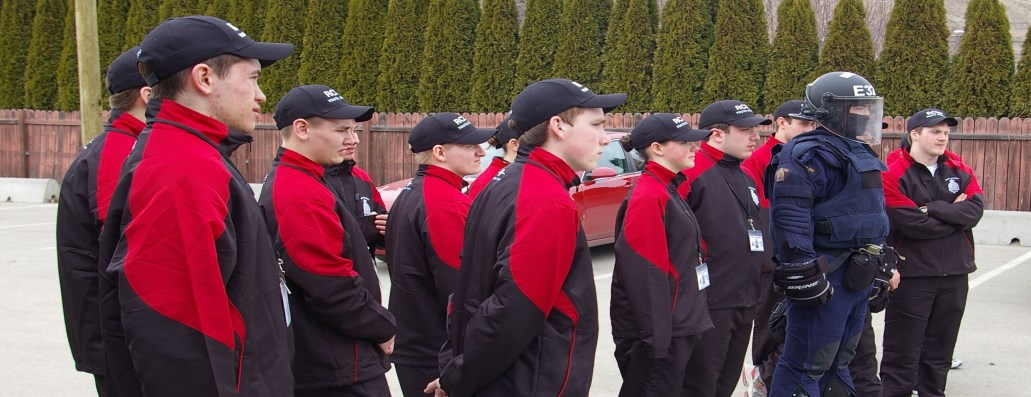 RCMP Youth Academy students
